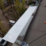 Balcony visor and roof repair