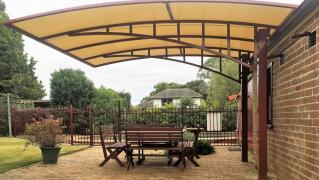 Canopies for the home. Metal and wrought iron GATES. Grid. Click